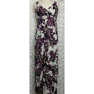 Ann Taylor floral maxi dress size L